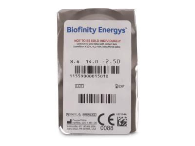 Biofinity Energys (3 čočky) - Vzhled blistru s čočkou