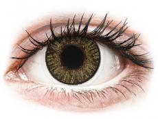 Barevné kontaktní čočky - dioptrické - FreshLook ColorBlends Pure Hazel - dioptrické (2čočky)