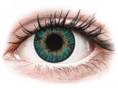 Modré kontaktní čočky - nedioptrické - FreshLook ColorBlends Turquoise - nedioptrické (2čočky)