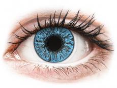 Barevné kontaktní čočky - FreshLook Colors Sapphire Blue - dioptrické (2čočky)