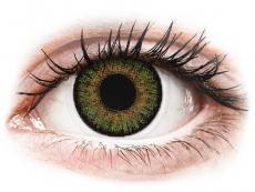Barevné kontaktní čočky - FreshLook One Day Color Green - dioptrické (10čoček)