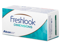 FreshLook Dimensions Carribean Aqua - dioptrické (6čoček)