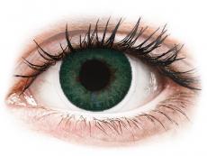 Zelené kontaktní čočky - nedioptrické - FreshLook Dimensions Carribean Aqua - nedioptrické (2čočky)