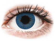 Barevné kontaktní čočky - FreshLook Dimensions Pacific Blue - dioptrické (6čoček)