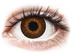 Barevné kontaktní čočky - Expressions Colors Brown - dioptrické (1 čočka)