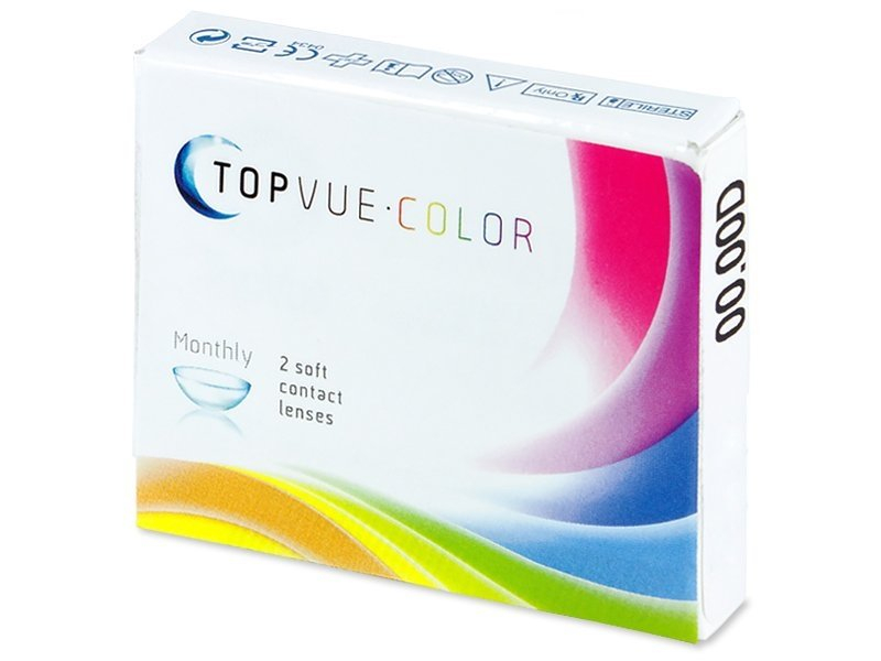Předchozí design - TopVue Color - Honey - nedioptrické (2čočky)