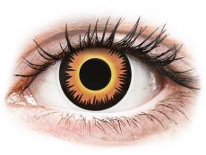 Crazy kontaktní čočky - nedioptrické - ColourVUE Crazy Lens - Orange Werewolf - nedioptrické jednodenní (2čočky)