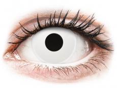 Bílé kontaktní čočky - nedioptrické - ColourVUE Crazy Lens - Whiteout - nedioptrické jednodenní (2čočky)