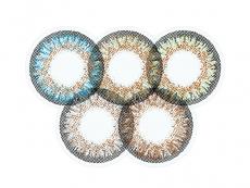 Zelené kontaktní čočky - nedioptrické - ColourVue One Day TruBlends Rainbow 1 - nedioptrické (10čoček)