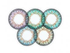 Zelené kontaktní čočky - nedioptrické - ColourVue One Day TruBlends Rainbow 2 - nedioptrické (10čoček)