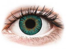 Měsíční kontaktní čočky - Air Optix Colors - Turquoise - dioptrické (2čočky)