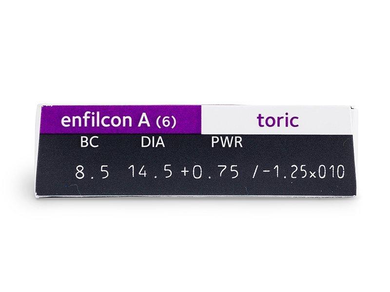 Avaira Toric (6čoček) - Náhled parametrů čoček