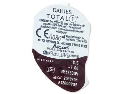 Dailies TOTAL1 (90čoček) - Vzhled blistru s čočkou