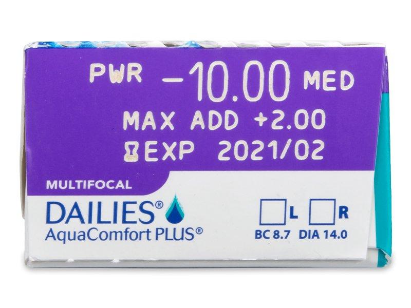 Dailies AquaComfort Plus Multifocal (30čoček) - Náhled parametrů čoček