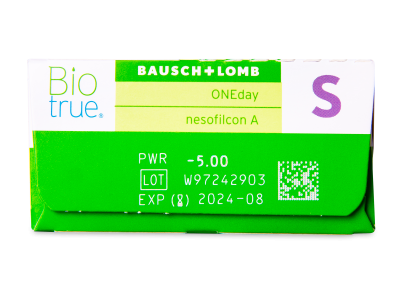 Biotrue ONEday (30čoček) - Náhled parametrů čoček
