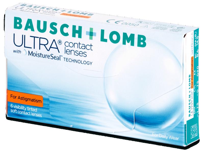 Torické kontaktní čočky - Bausch + Lomb ULTRA for Astigmatism (6 čoček)