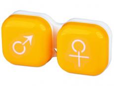 Pouzdra na čočky a cestovní sady - Pouzdro na čočky muž a žena - žluté