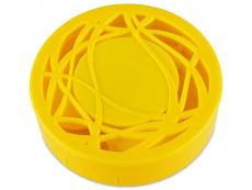 Pouzdra na čočky a cestovní sady - Kazetka s ornamentem - žlutá