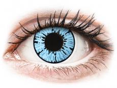 Modré kontaktní čočky - nedioptrické - ColourVUE Crazy Lens - Blizzard - nedioptrické (2čočky)
