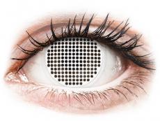 Bílé kontaktní čočky - nedioptrické - ColourVUE Crazy Lens - White Screen - nedioptrické (2čočky)