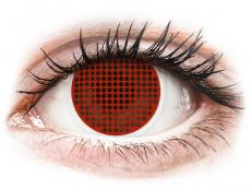 Červené kontaktní čočky - nedioptrické - ColourVUE Crazy Lens - Red Screen - nedioptrické (2čočky)