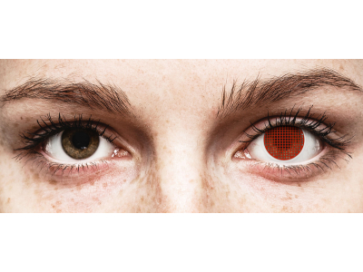 ColourVUE Crazy Lens - Red Screen - nedioptrické (2 čočky)