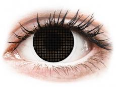 Speciální barevné čočky - nedioptrické - ColourVUE Crazy Lens - Black Screen - nedioptrické (2čočky)