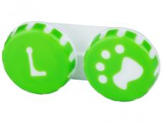 Příslušenství - Pouzdro na čočky Tlapka - zelené