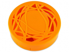 Pouzdra na čočky a cestovní sady - Kazetka s ornamentem - oranžová