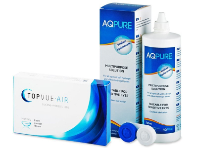 TopVue Air (6 čoček) + roztok AQ Pure 360 ml