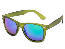 Čtvercové sluneční brýle - Sluneční brýle Stingray - Green Rubber