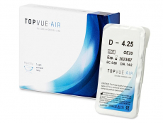 Měsíční kontaktní čočky - TopVue Air (1 čočka)