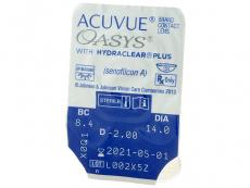 Acuvue Oasys (24 čoček) - Vzhled blistru s čočkou