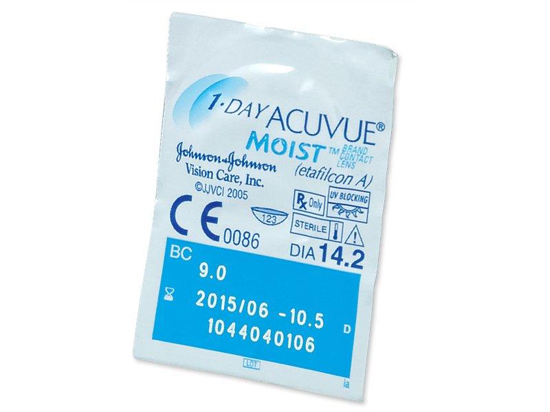 1 Day Acuvue Moist (180čoček) - Vzhled blistru s čočkou