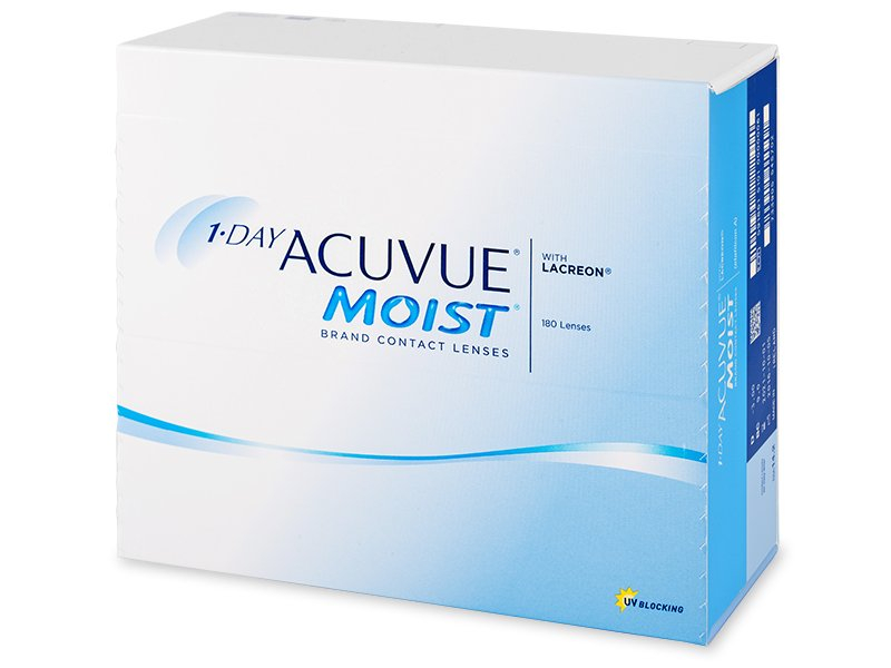 1 Day Acuvue Moist (180 čoček) - Jednodenní kontaktní čočky - Johnson and Johnson