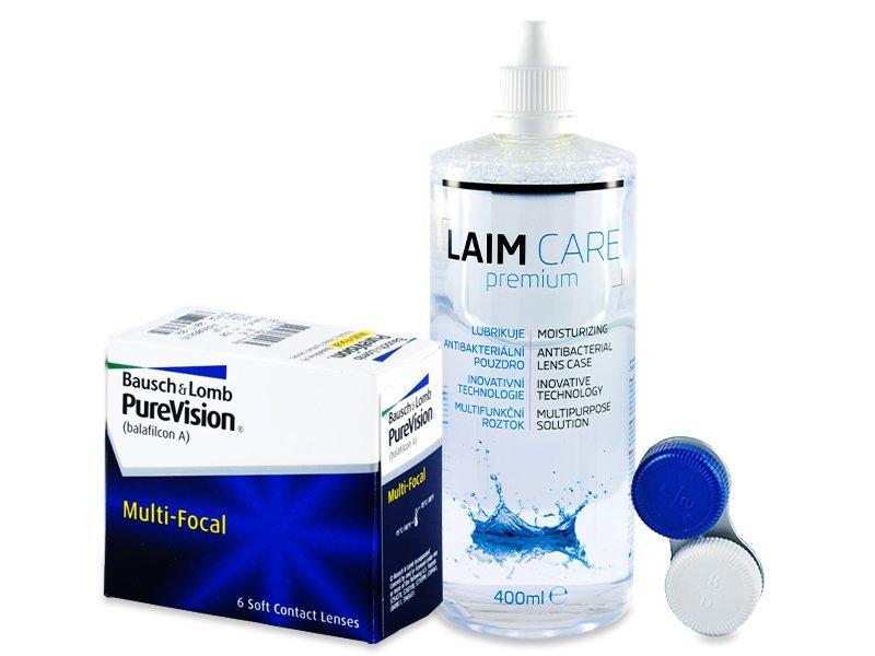 PureVision Multi-Focal (6 čoček) + roztok Laim-Care 400 ml - Výhodný balíček