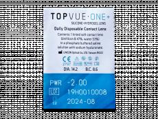 TopVue One+ (5 čoček) - Vzhled blistru s čočkou