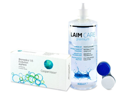 Biomedics 55 Evolution (6 čoček) +roztok LaimCare400ml
