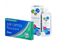 Air Optix plus HydraGlyde for Astigmatism (6 čoček) + roztok Gelone 360 ml