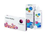 Avaira Vitality (3 čočky) + roztok Gelone 360 ml