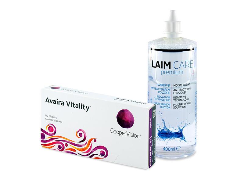Avaira Vitality (6 čoček) + roztok Laim-Care 400 ml