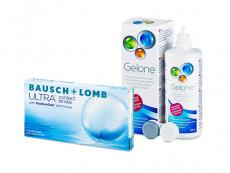 Bausch + Lomb ULTRA (6 čoček) + roztok Gelone 360 ml