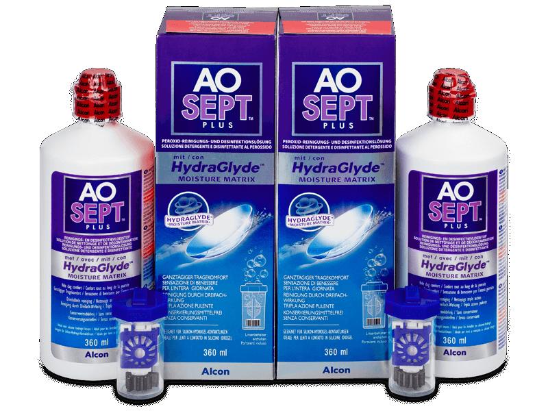 Roztok AO SEPT PLUS HydraGlyde 2 x 360 ml  - Výhodné dvojbalení roztoku