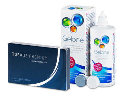 TopVue Premium (6čoček) +roztok Gelone360ml