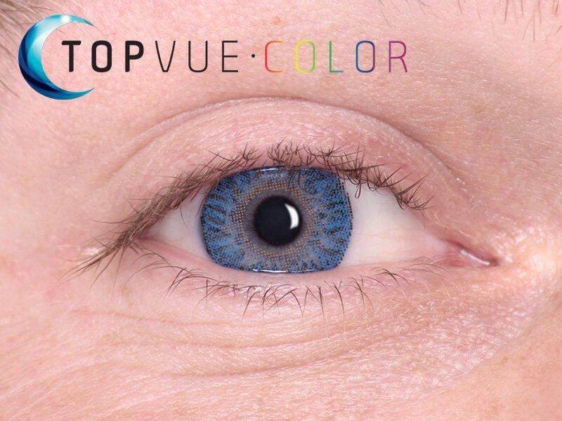 True Sapphire na modrém oku