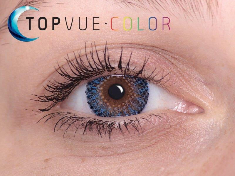 Barva True Sapphire na hnědém oku
