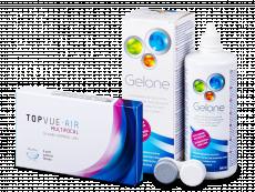 TopVue Air Multifocal (3 čočky) +roztok Gelone 360ml