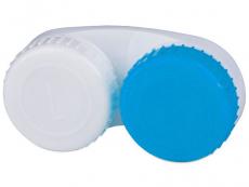 Pouzdra na čočky a cestovní sady - Pouzdro na čočky modro-bílé L+R