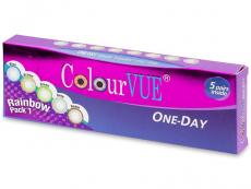 Barevné a Crazy kontaktní čočky - ColourVue One Day TruBlends Rainbow - nedioptrické (10čoček)