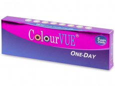 Barevné a Crazy kontaktní čočky - ColourVue One Day TruBlends - dioptrické (10čoček)